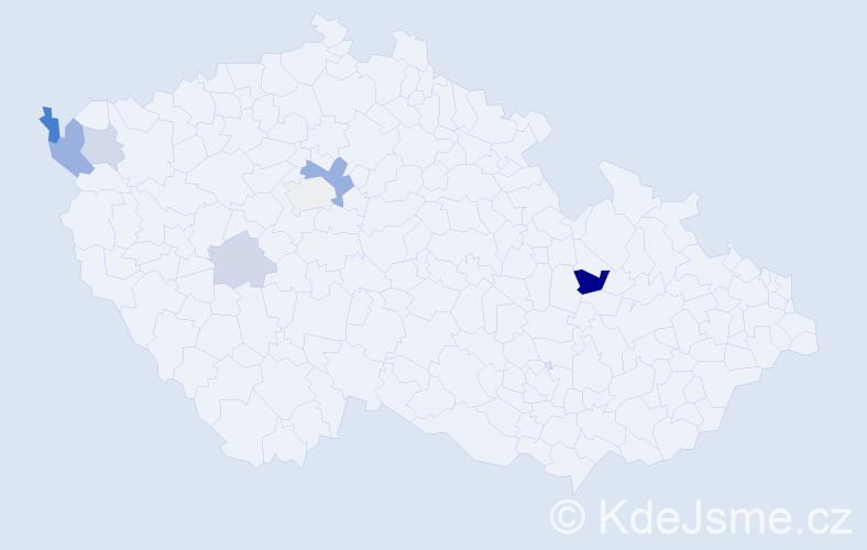 Příjmení: 'Irišková', počet výskytů 14 v celé ČR