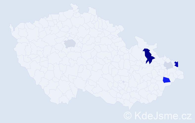 Příjmení: 'Ľalíková', počet výskytů 14 v celé ČR