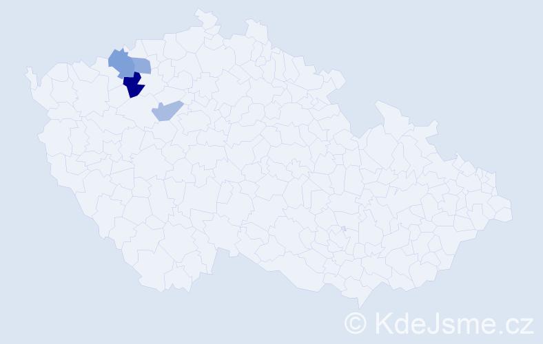 Příjmení: 'Grzybowski', počet výskytů 11 v celé ČR