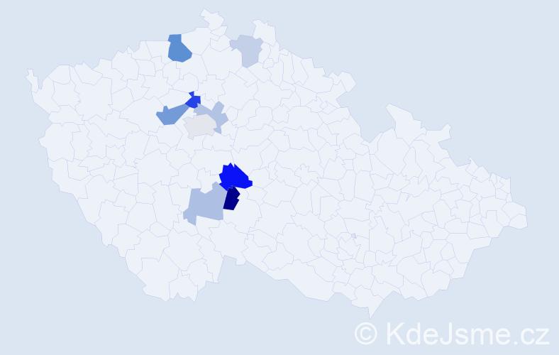 Příjmení: 'Hergesellová', počet výskytů 17 v celé ČR