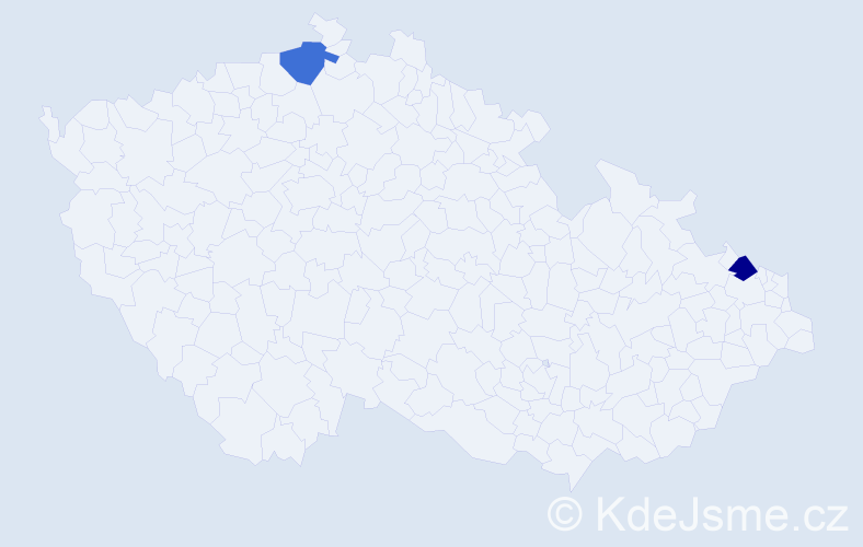 Příjmení: 'Adamsonová', počet výskytů 2 v celé ČR
