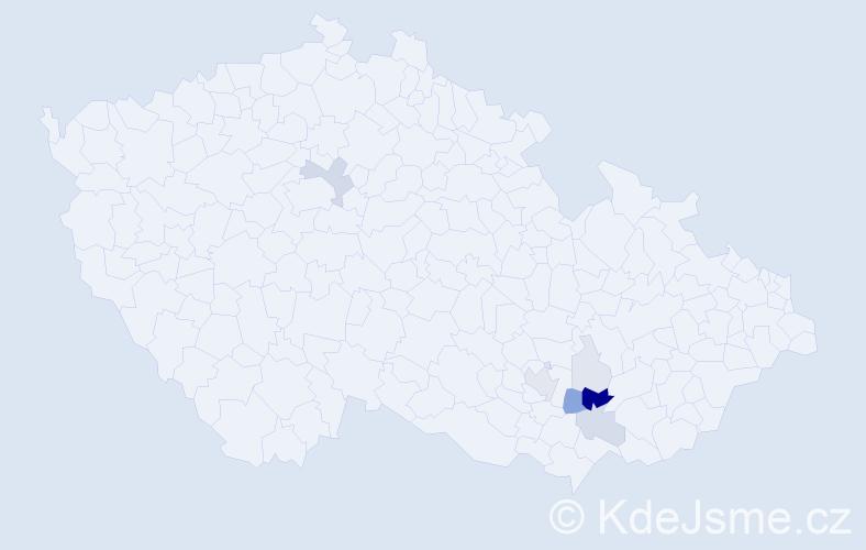 Příjmení: 'Duraja', počet výskytů 23 v celé ČR