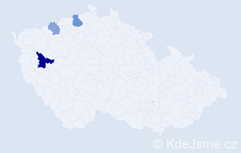 Příjmení: 'Avakjan', počet výskytů 6 v celé ČR