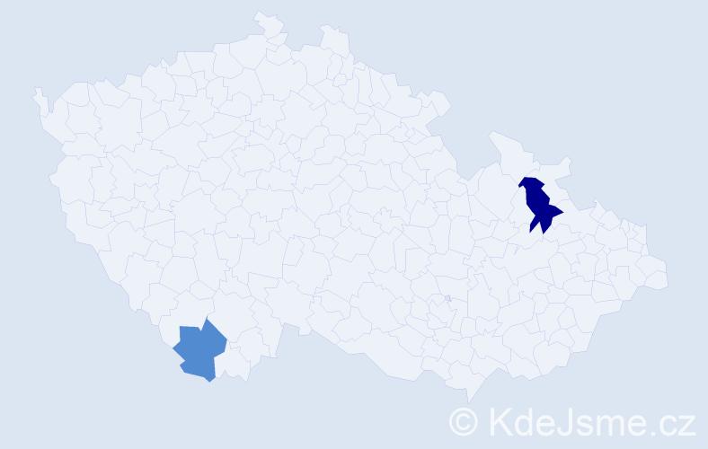 Příjmení: 'Janove', počet výskytů 6 v celé ČR