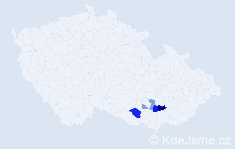 Příjmení: 'Chumchál', počet výskytů 4 v celé ČR