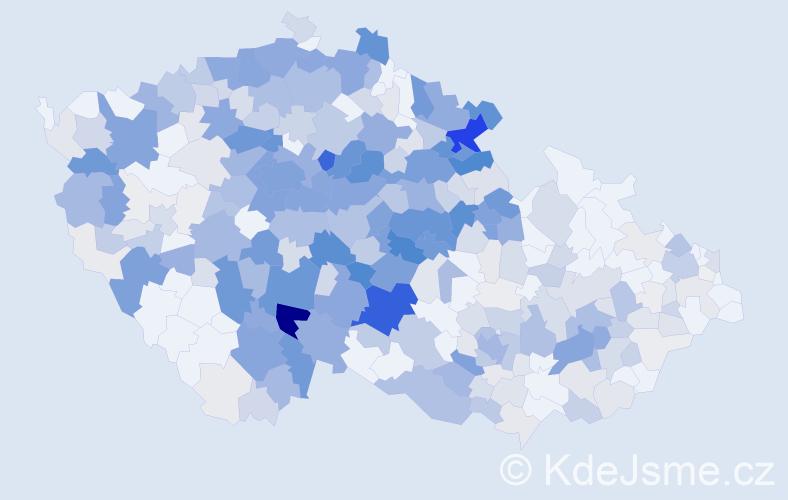 Příjmení: 'Čápová', počet výskytů 1865 v celé ČR