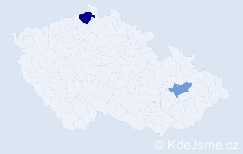 Příjmení: 'Andok', počet výskytů 6 v celé ČR