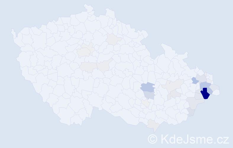 Příjmení: 'Halata', počet výskytů 128 v celé ČR