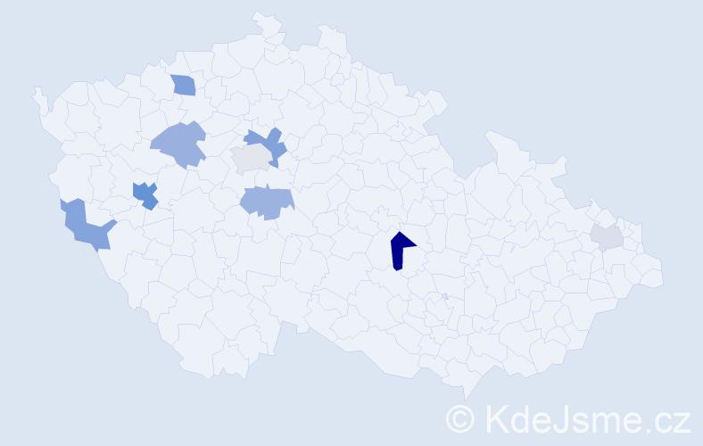 Příjmení: 'Follprechtová', počet výskytů 17 v celé ČR
