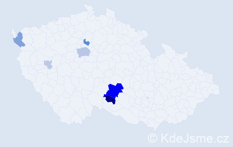 Příjmení: 'Ecker', počet výskytů 15 v celé ČR