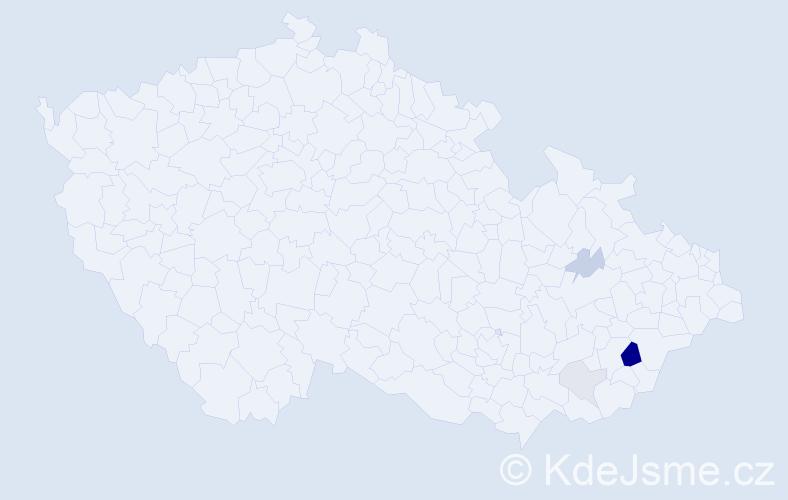 Příjmení: 'Gregořík', počet výskytů 10 v celé ČR