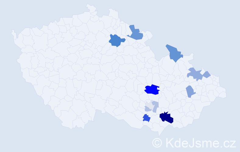 Příjmení: 'Hylš', počet výskytů 27 v celé ČR