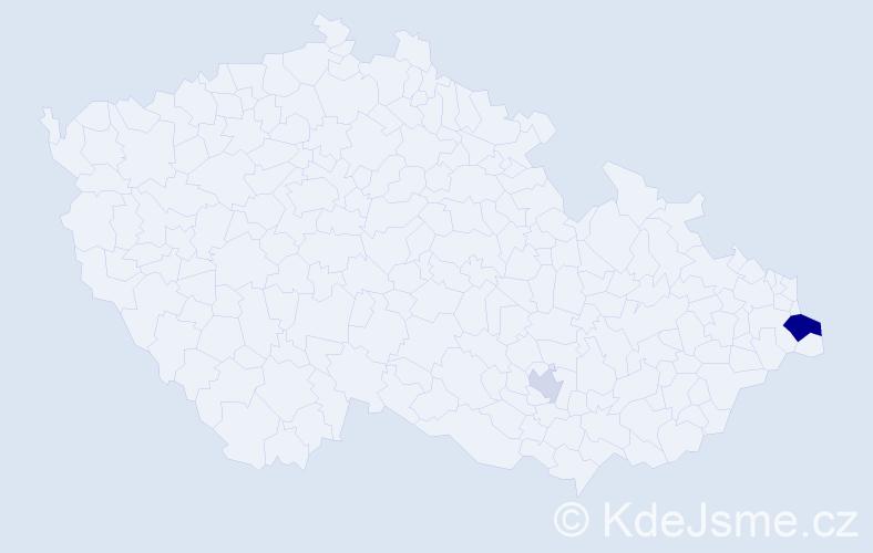Příjmení: 'Lenczowski', počet výskytů 9 v celé ČR