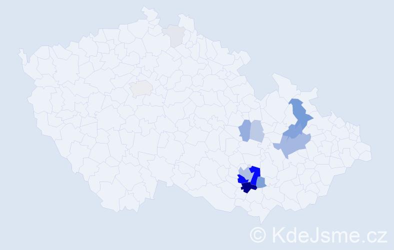 Příjmení: 'Grolich', počet výskytů 58 v celé ČR