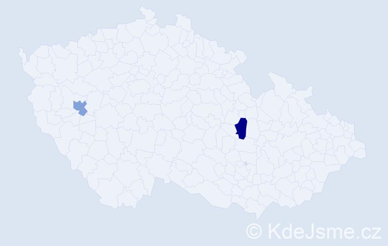 """Příjmení: '""""Enkh Amgalan""""', počet výskytů 2 v celé ČR"""