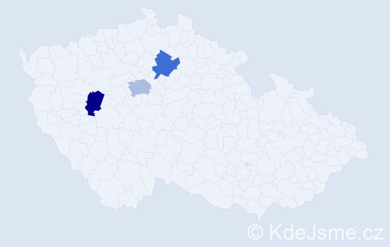 Příjmení: 'Ghlimová', počet výskytů 4 v celé ČR