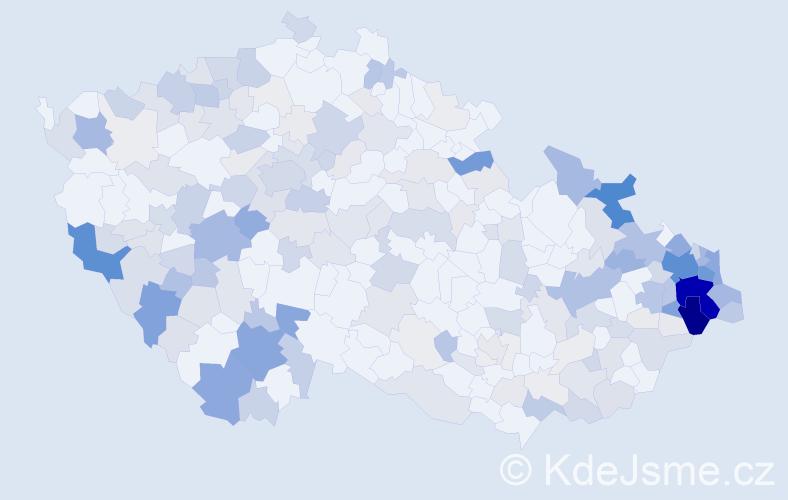 Příjmení: 'Kubalová', počet výskytů 837 v celé ČR