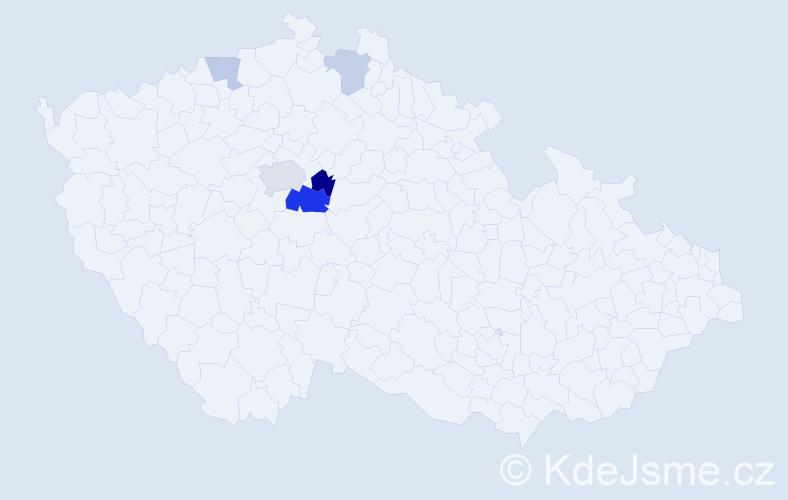 Příjmení: 'Freiwilligová', počet výskytů 11 v celé ČR