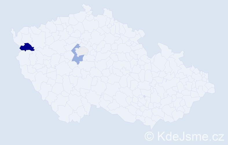 Příjmení: 'Cocula', počet výskytů 6 v celé ČR