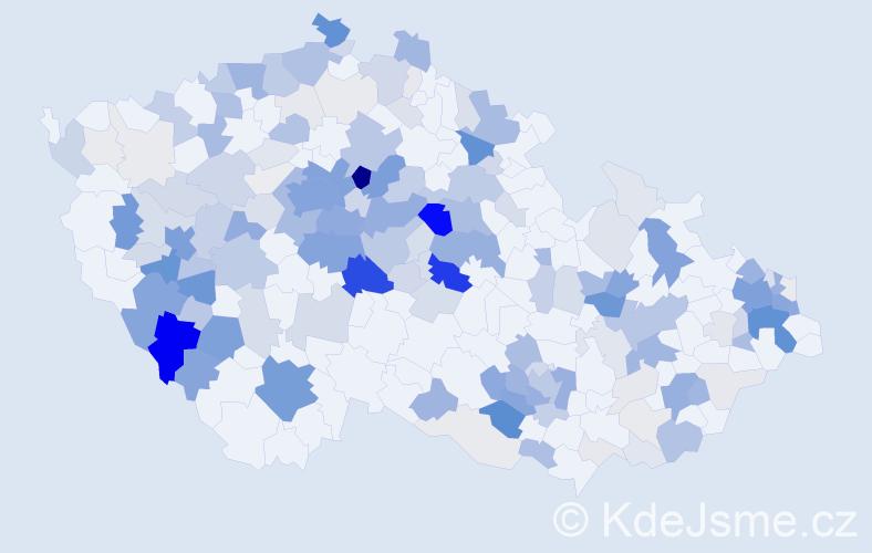 Příjmení: 'Jarolímová', počet výskytů 723 v celé ČR