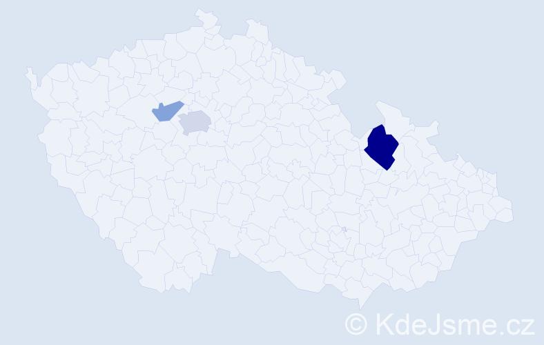 Příjmení: 'Lefant', počet výskytů 6 v celé ČR