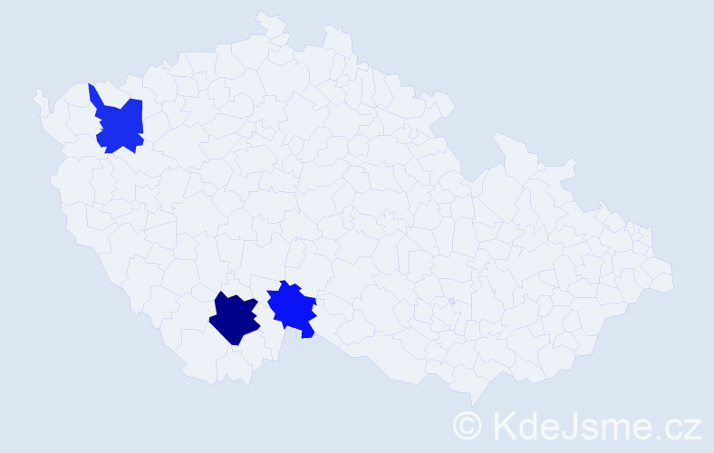 Příjmení: 'Jarčevský', počet výskytů 11 v celé ČR