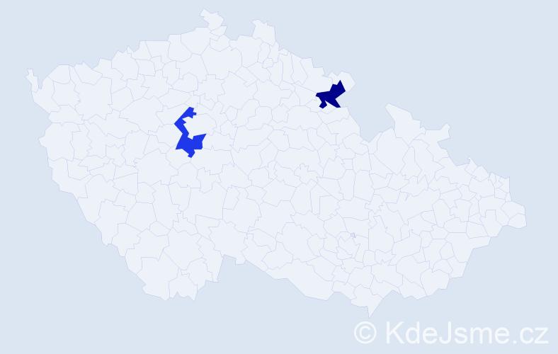 Příjmení: 'Carlino', počet výskytů 6 v celé ČR