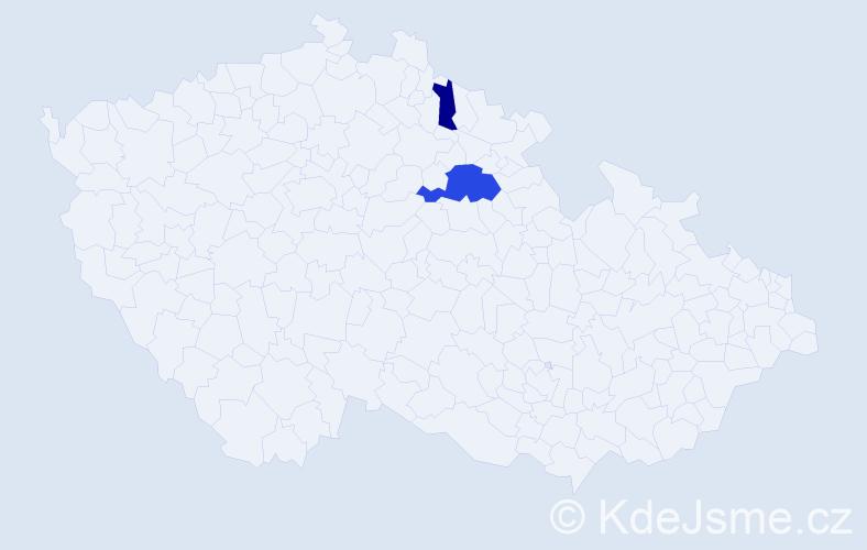 Příjmení: 'Gianquintieri', počet výskytů 4 v celé ČR