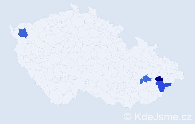 Příjmení: 'Cmerek', počet výskytů 4 v celé ČR