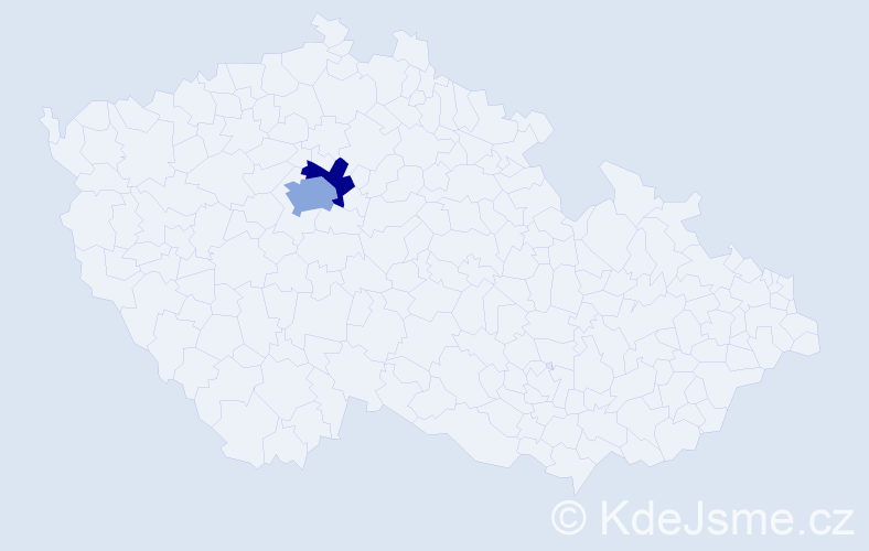Příjmení: 'Galez', počet výskytů 3 v celé ČR