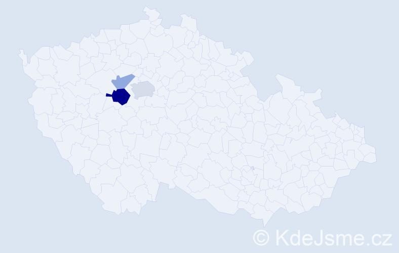 Příjmení: 'Kanhäuserová', počet výskytů 6 v celé ČR