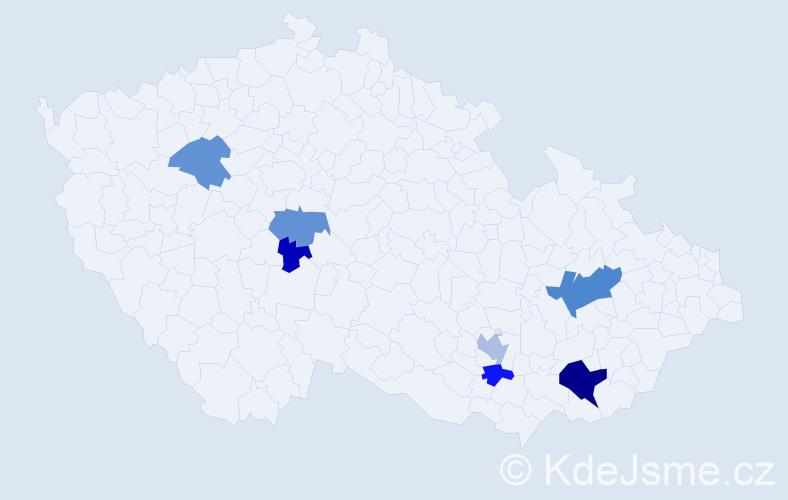 Příjmení: 'Ketman', počet výskytů 22 v celé ČR