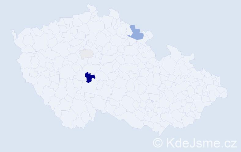 Příjmení: 'Fíbrová', počet výskytů 3 v celé ČR