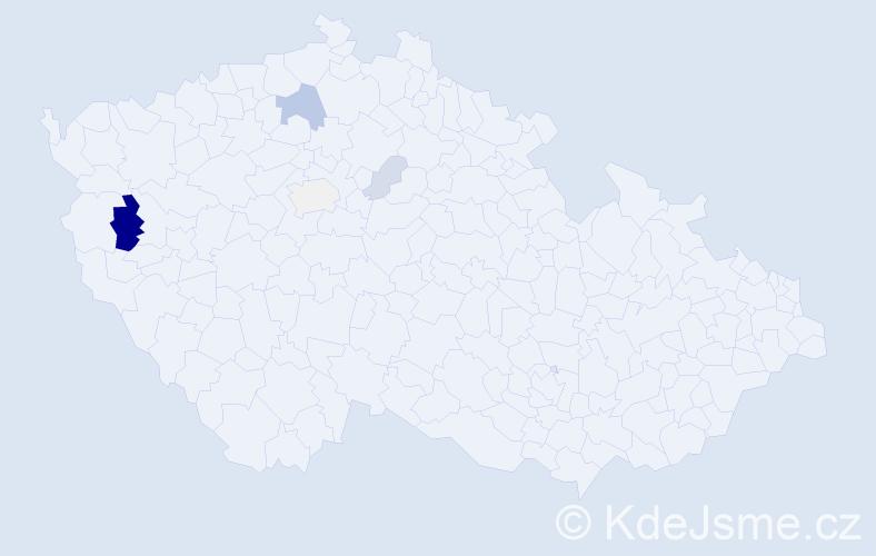Příjmení: 'Harvilla', počet výskytů 13 v celé ČR