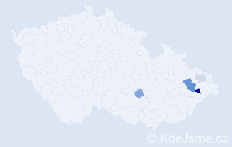 Příjmení: 'Esterkes', počet výskytů 10 v celé ČR