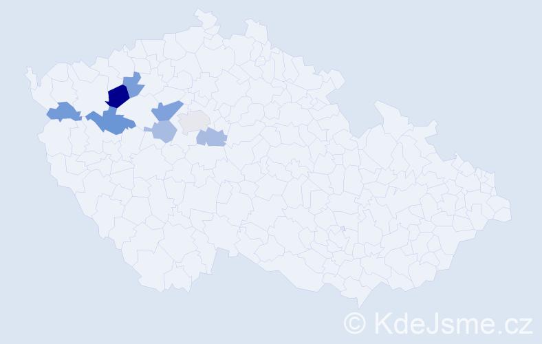 Příjmení: 'Hunyady', počet výskytů 12 v celé ČR