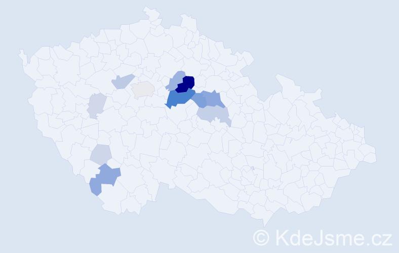 Příjmení: 'Hamrník', počet výskytů 42 v celé ČR