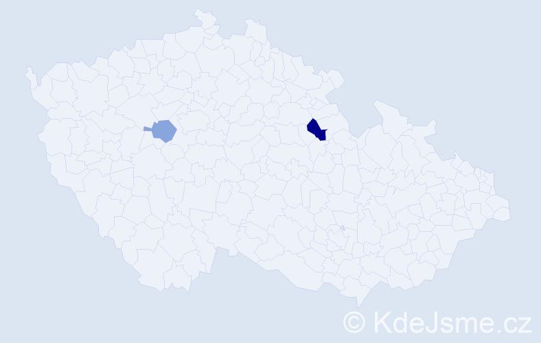 Příjmení: 'Ilchman', počet výskytů 3 v celé ČR