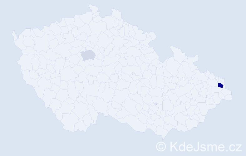 Příjmení: 'Gambacorta', počet výskytů 3 v celé ČR