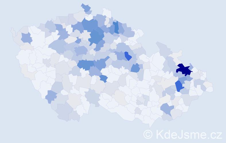 Příjmení: 'Hendrych', počet výskytů 1242 v celé ČR
