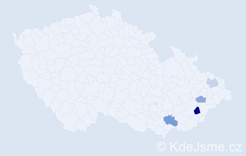 Příjmení: 'Dořman', počet výskytů 7 v celé ČR