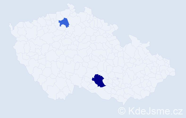Příjmení: 'Ďurecová', počet výskytů 3 v celé ČR