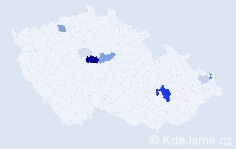 Příjmení: 'Ganobčíková', počet výskytů 12 v celé ČR