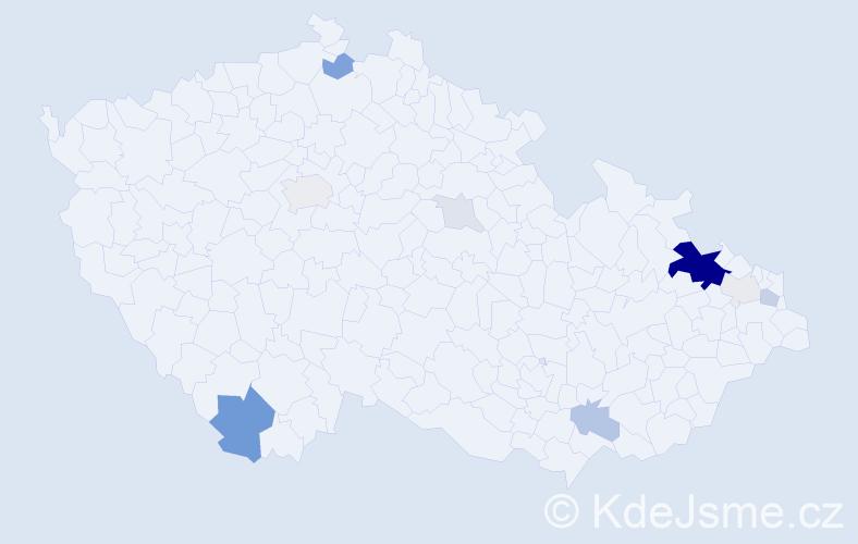Příjmení: 'Fuchsíková', počet výskytů 38 v celé ČR