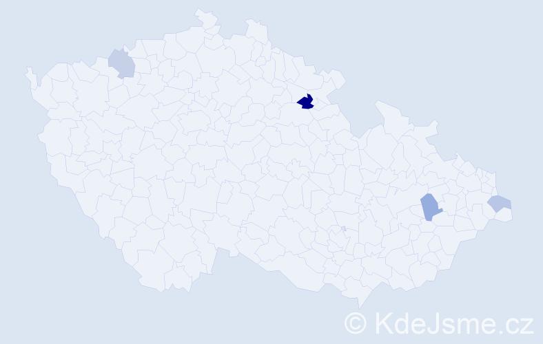 Příjmení: 'Ciesielská', počet výskytů 6 v celé ČR