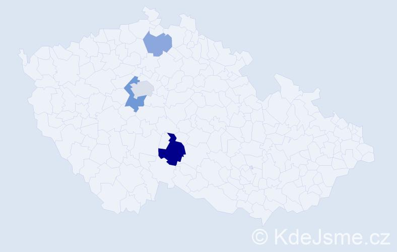 Příjmení: 'Ižovská', počet výskytů 8 v celé ČR