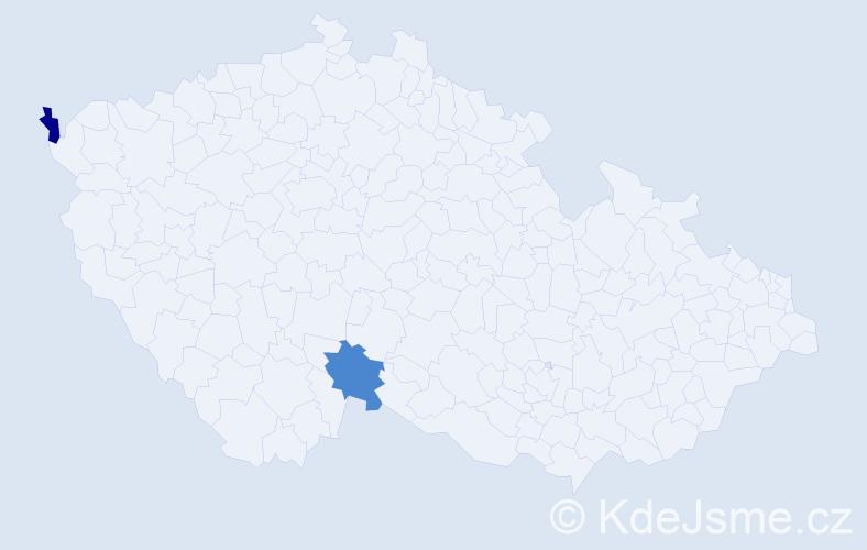 Příjmení: 'Lemka', počet výskytů 7 v celé ČR