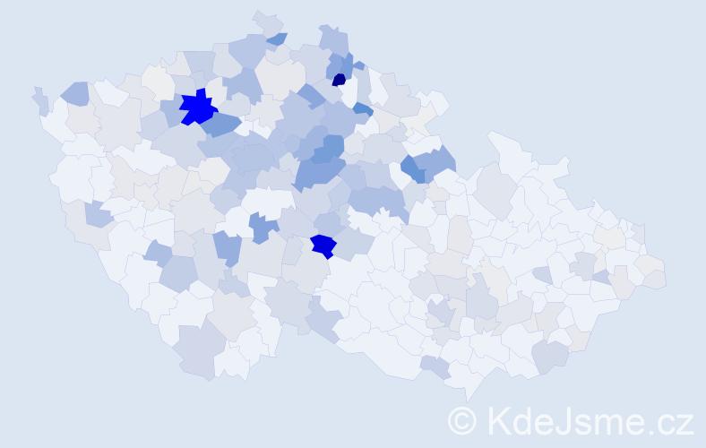 Příjmení: 'Krupka', počet výskytů 907 v celé ČR