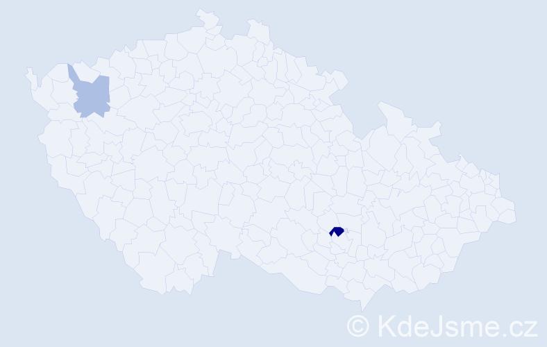 Příjmení: 'Galgóciová', počet výskytů 3 v celé ČR
