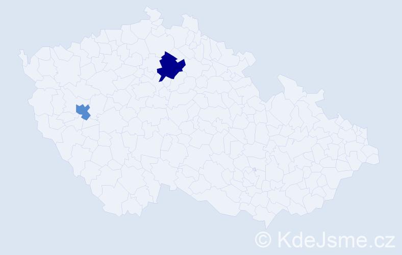Příjmení: 'Englmanová', počet výskytů 5 v celé ČR